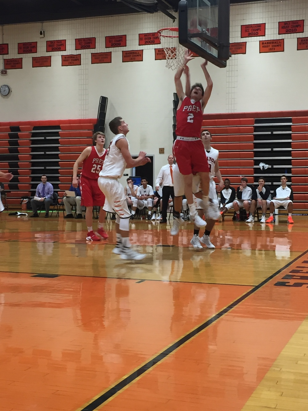 Junior guard Philip Vlandis of the Fairfield Prep Jesuits goes up for layup strong in the paint. Provided by: CTHoopsNews
