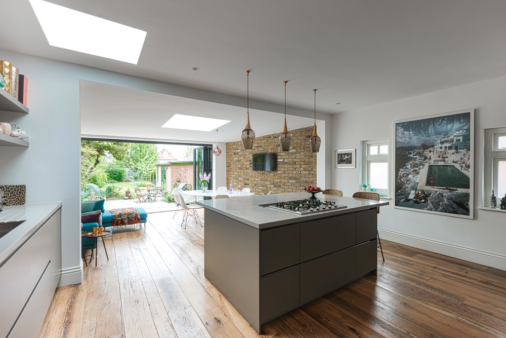 Woodford north east london lisa burke interiors Contemporary open plan kitchen
