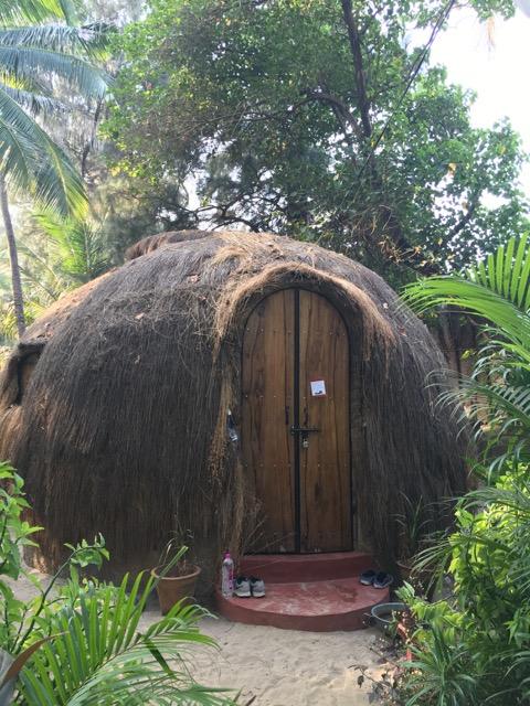 Coconut huts at Coconut huts at Yab Yum eco-resort, Ashvem, Goa
