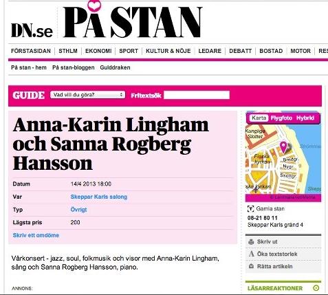 Anna-Karin LIngham Solist