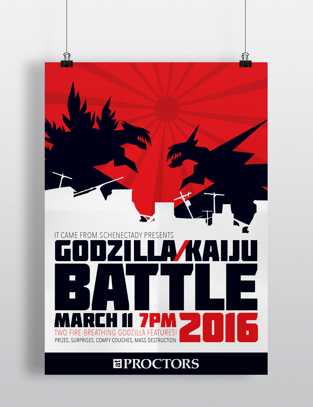 Poster,  Godzilla Kaiju Battle 2016 .