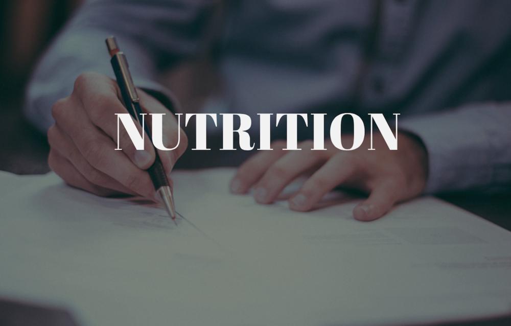 LESSON 1- NUTRITION