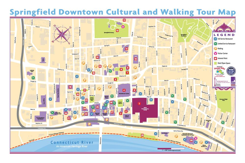 Springfield Usa Map.Walking Tour Of Springfield Cultural District Springfield Cultural