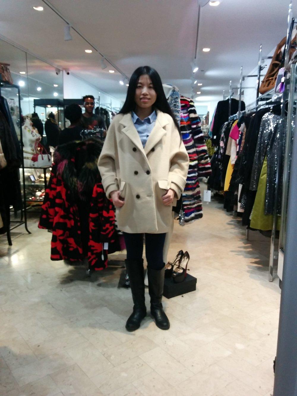 Coat  Johanex , furs  Richard Meyerson .@ Tatiana Designer Resale .