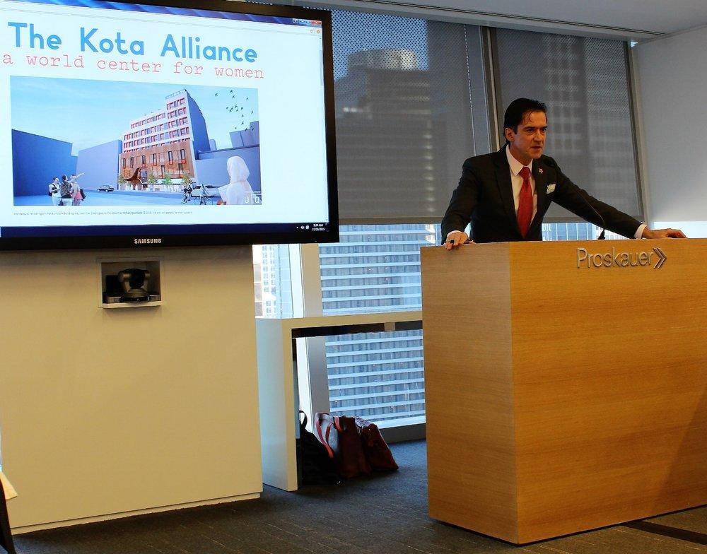 Ambassador Kai Sauer giving his speech.