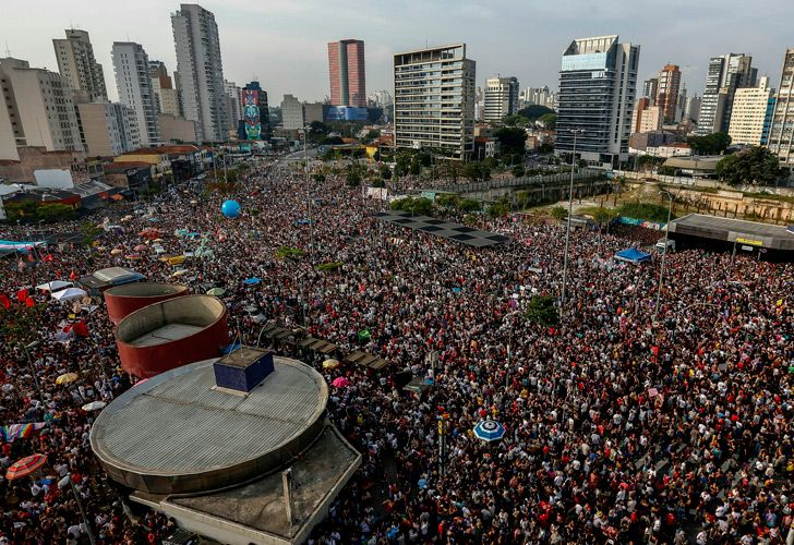 Protest against Bolsonaro in Sao Paulo, Brazil