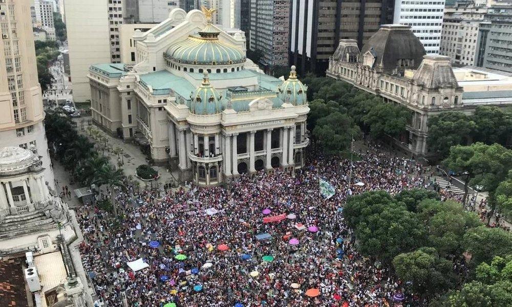 Protest against Bolsonaro in Rio de Janeiro, Brazil