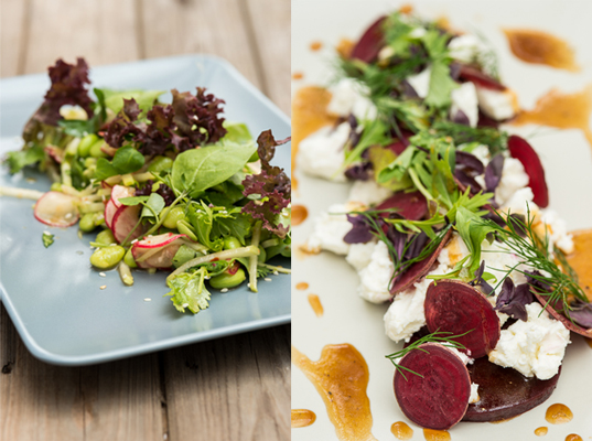 470_Soybean salad and beetroot and goats cheese salad.jpg