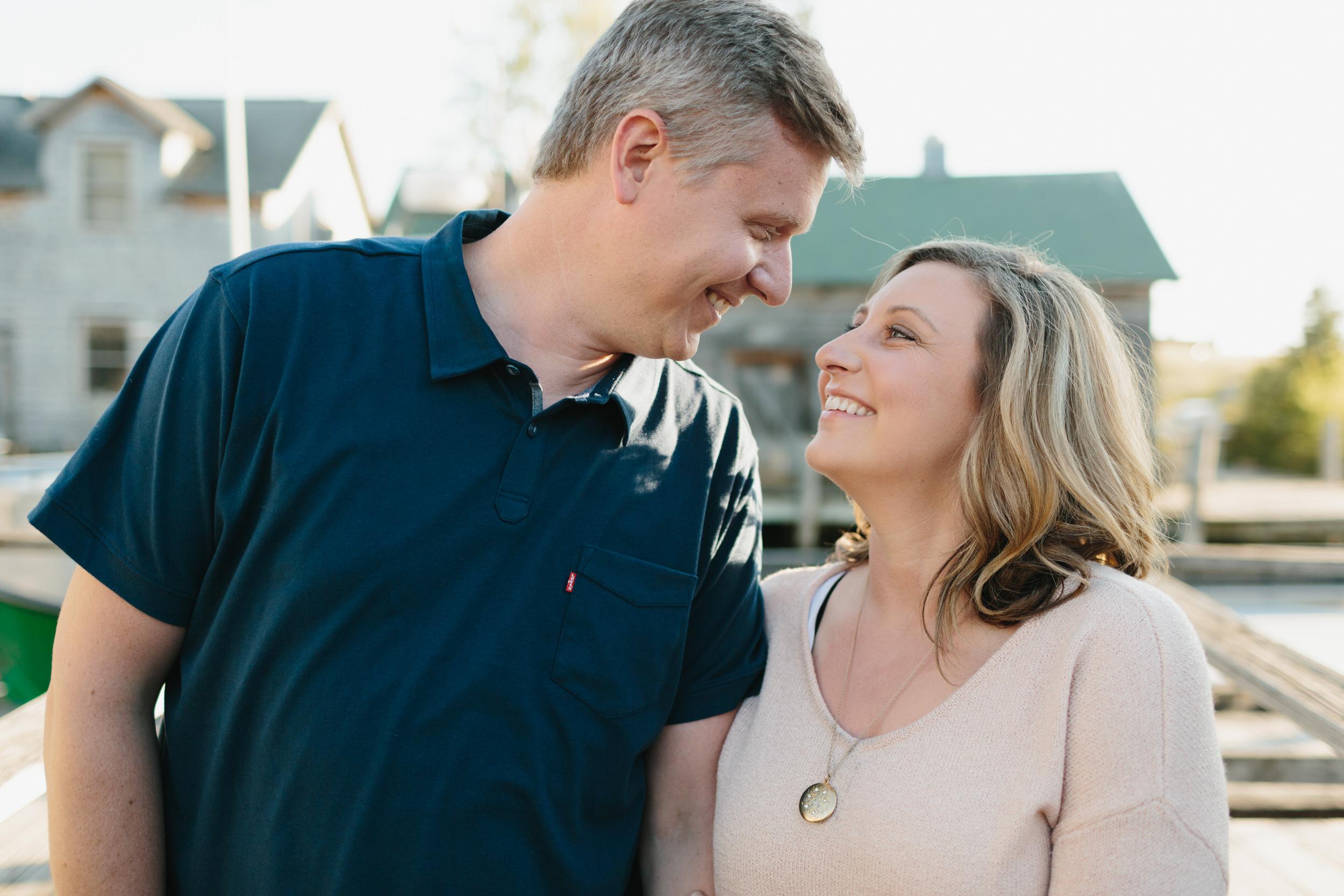 Melissa and Dan // Northern Michigan Engagement Photos