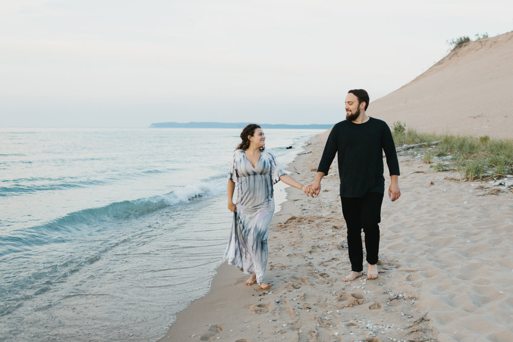 Northern Michigan Sleeping Bear Dunes Wedding Engagement Photographer Mae Stier-038.jpg