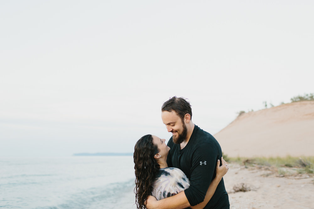 Northern Michigan Sleeping Bear Dunes Wedding Engagement Photographer Mae Stier-047.jpg