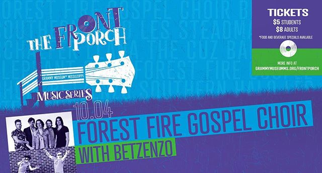 @betzenzo is BACK. Stoked to be playing for the @grammymuseumms Front Porch Music Series on Thursday, October 4th with @forestfiregospelchoir #keepclevelandboring @keepclevelandboring