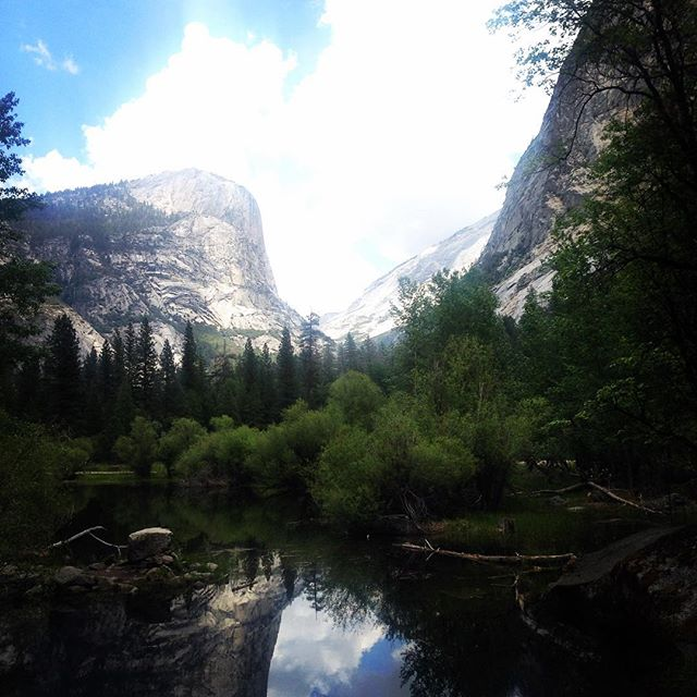 I actually took this! (In May) Eat your heart out Ansel #yosemitenationalpark #yosemitemirrorlake #getoutside #wildtime #naturegram #nature #mirrorlake #trees #wonderfulnature
