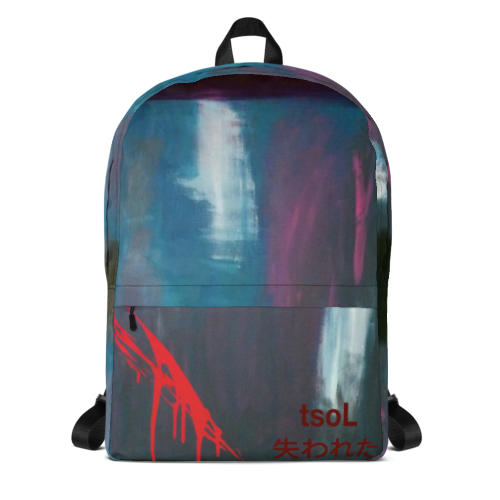 BACKPACKS - This all-over print backpack has plenty of room with a big inner pocket, a separate section for a 15'' laptop, a front pocket, and a hidden pocket at the back.