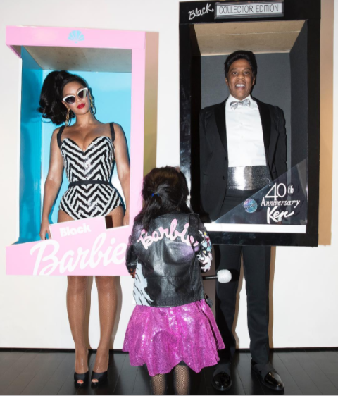 Image via Instagram @beyonce. Beyonce and Jay-Z as Barbie and Ken.