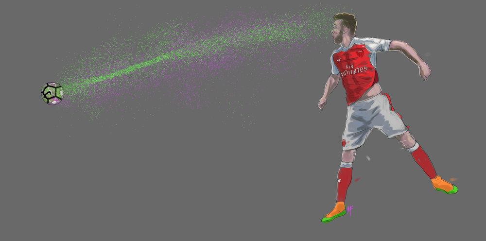 Calum Chambers. Arsenal v Liverpool. Mathew Vieira. GiftofaGoal