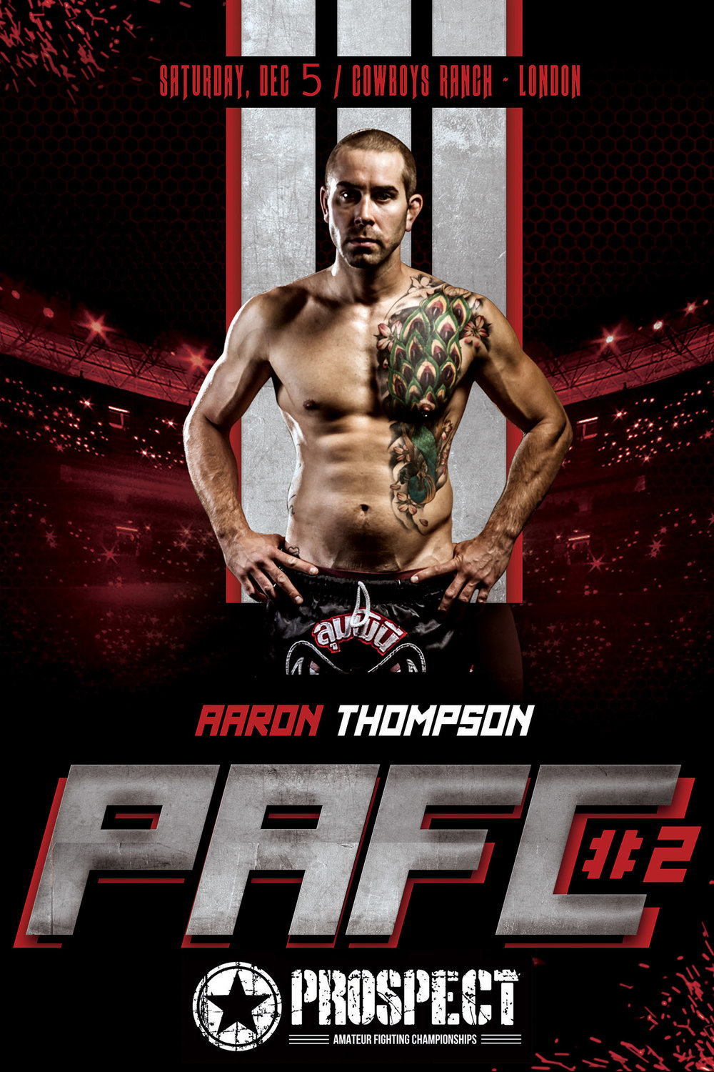 The poster from the fight I photographed Aaron at