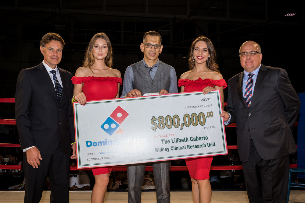 Domino's Pizza Canada donates $800 000 to the charity.