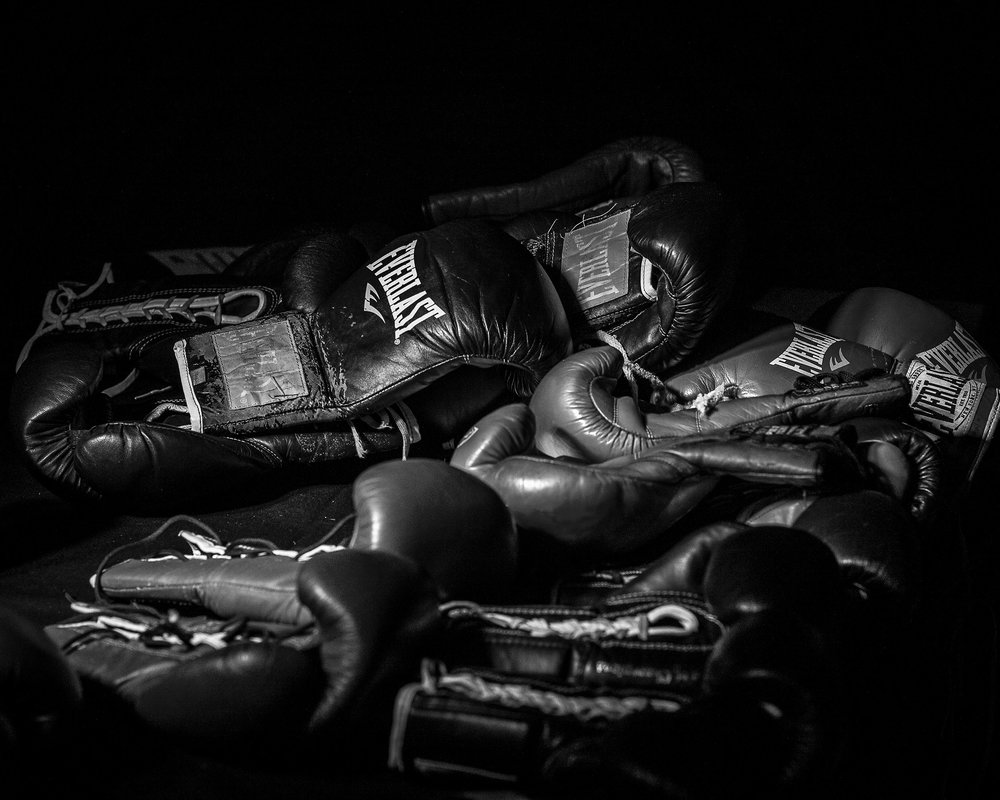 Everlast gloves, the weapon of choice