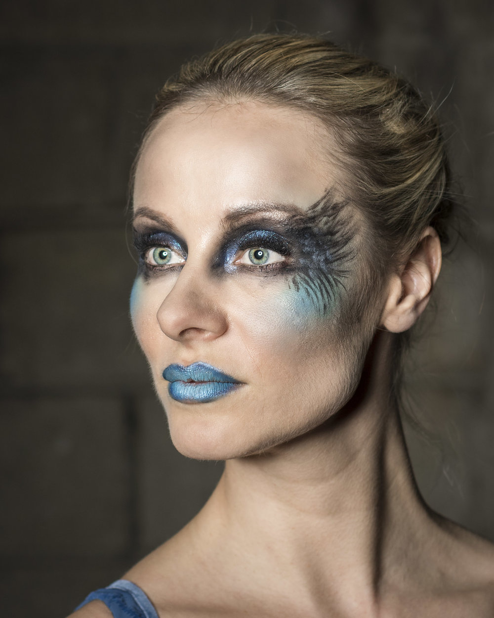 Creative makeup for the second look.