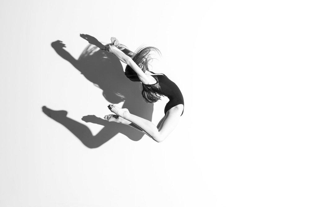 Ashlyn and her shadow jumping