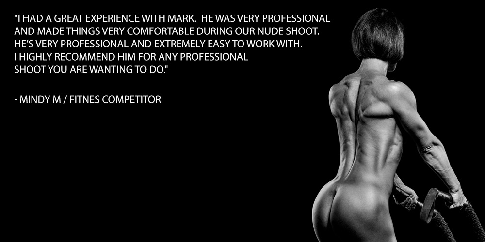 I had a great experience with Mark. He was very professional and made things very comfortable during our nude shoot. He's very professional and extremely easy to work with. I highly recommend him for any professional shoot you are wanting to do.