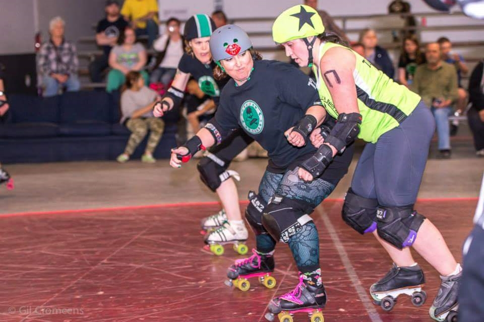 I play roller derby with Slaughterhouse Derby Girls in Greeley, CO.  After 3 hours of practice we go home super sweaty!  -Tami Sequelquist   Loveland, CO