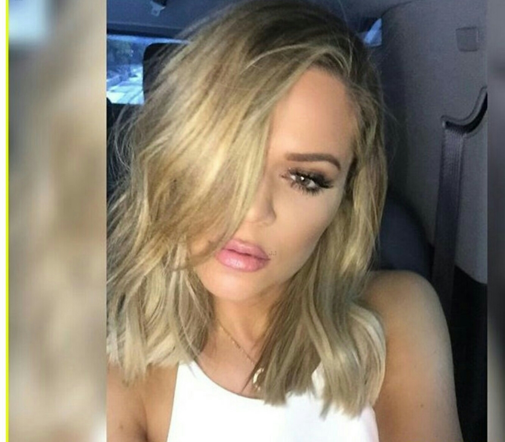 khloe new blunt cut