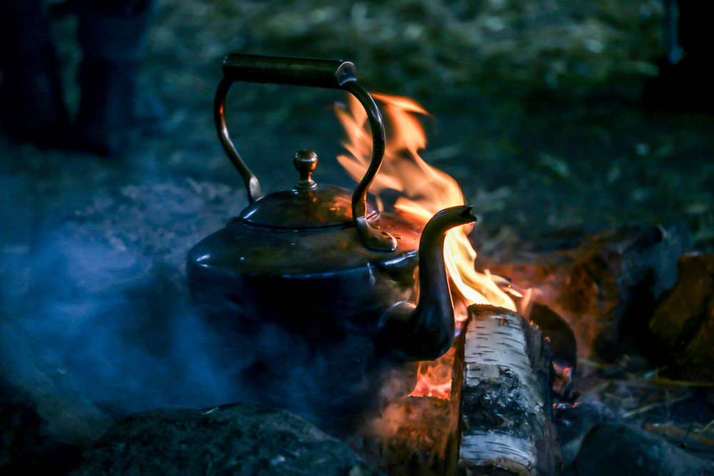 Level 3 forest school training kettle campfire