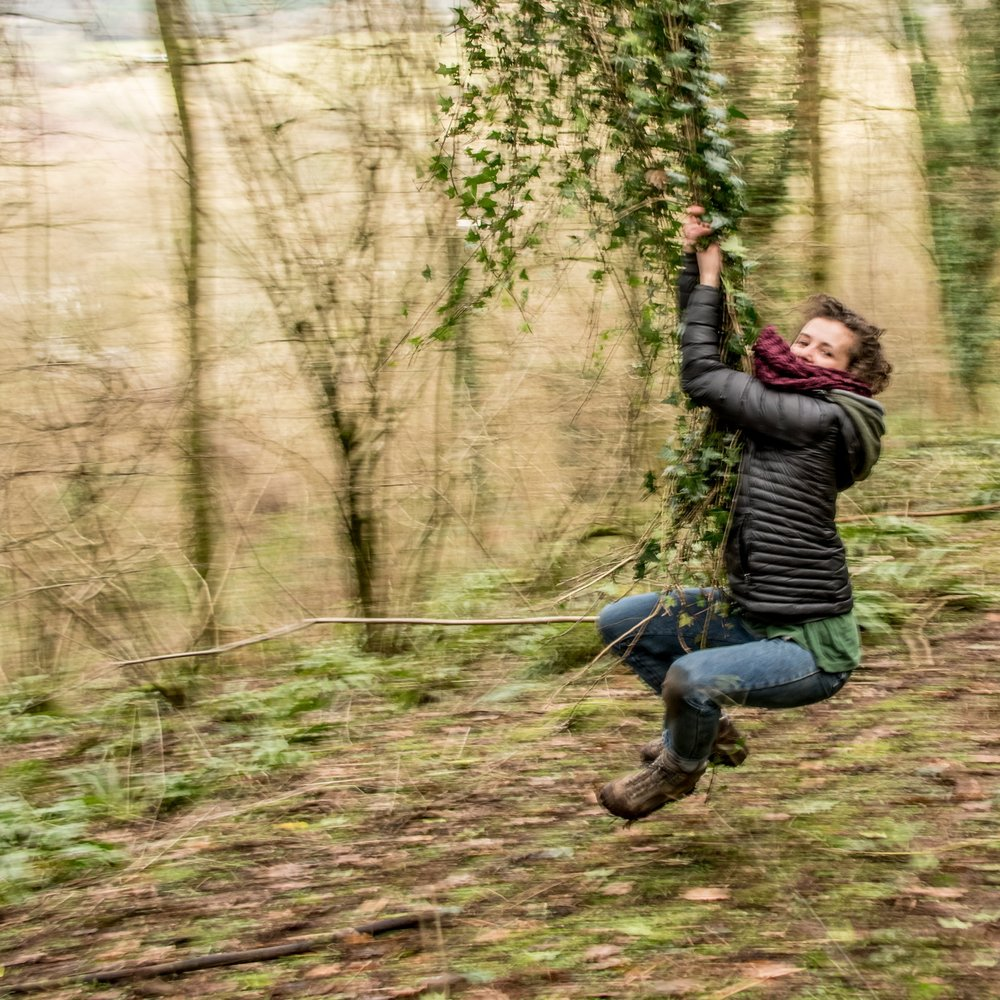 Go Wild Forest School Level 3 training ivy swing