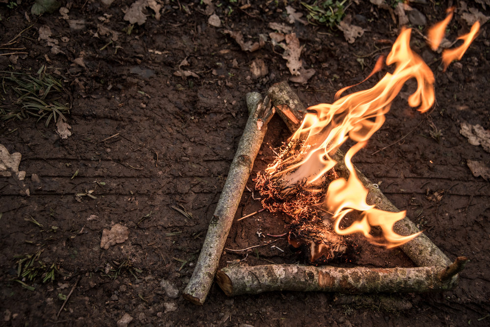 Go Wild Forest School Level 3 Training firelighting fire triangle.jpg