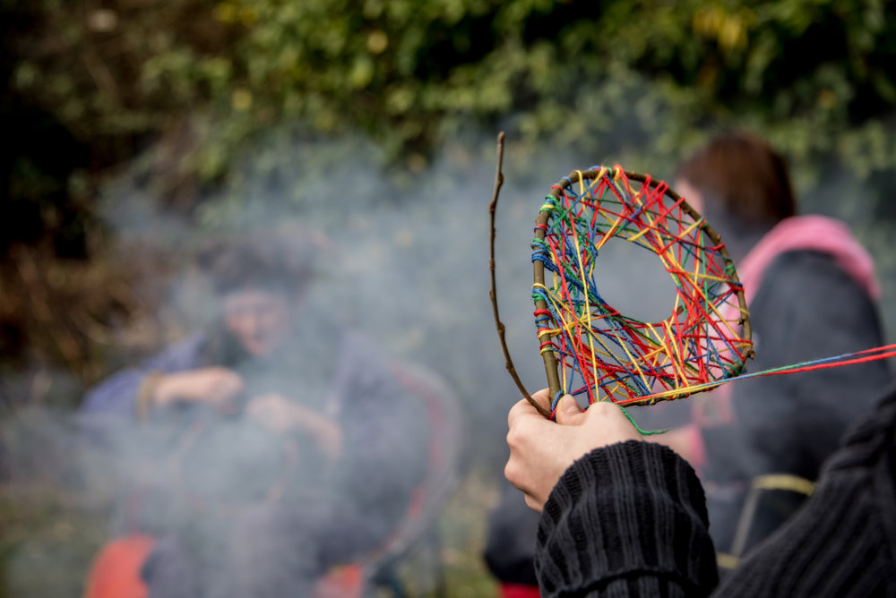 Go Wild Forest School Level 3 Training dreamcatcher campfire close up.jpg