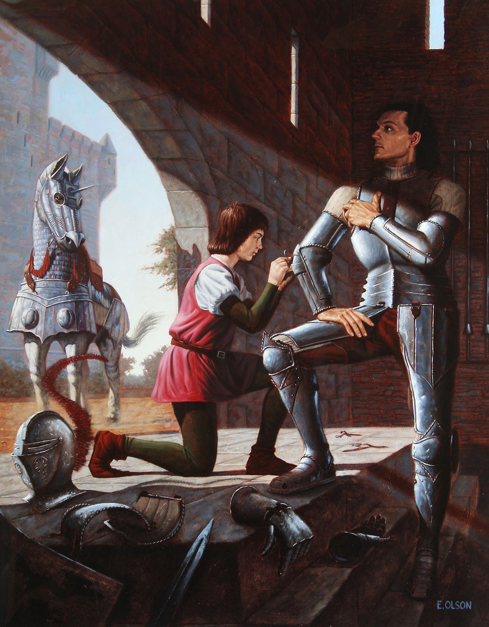 Squire Dressing Knight