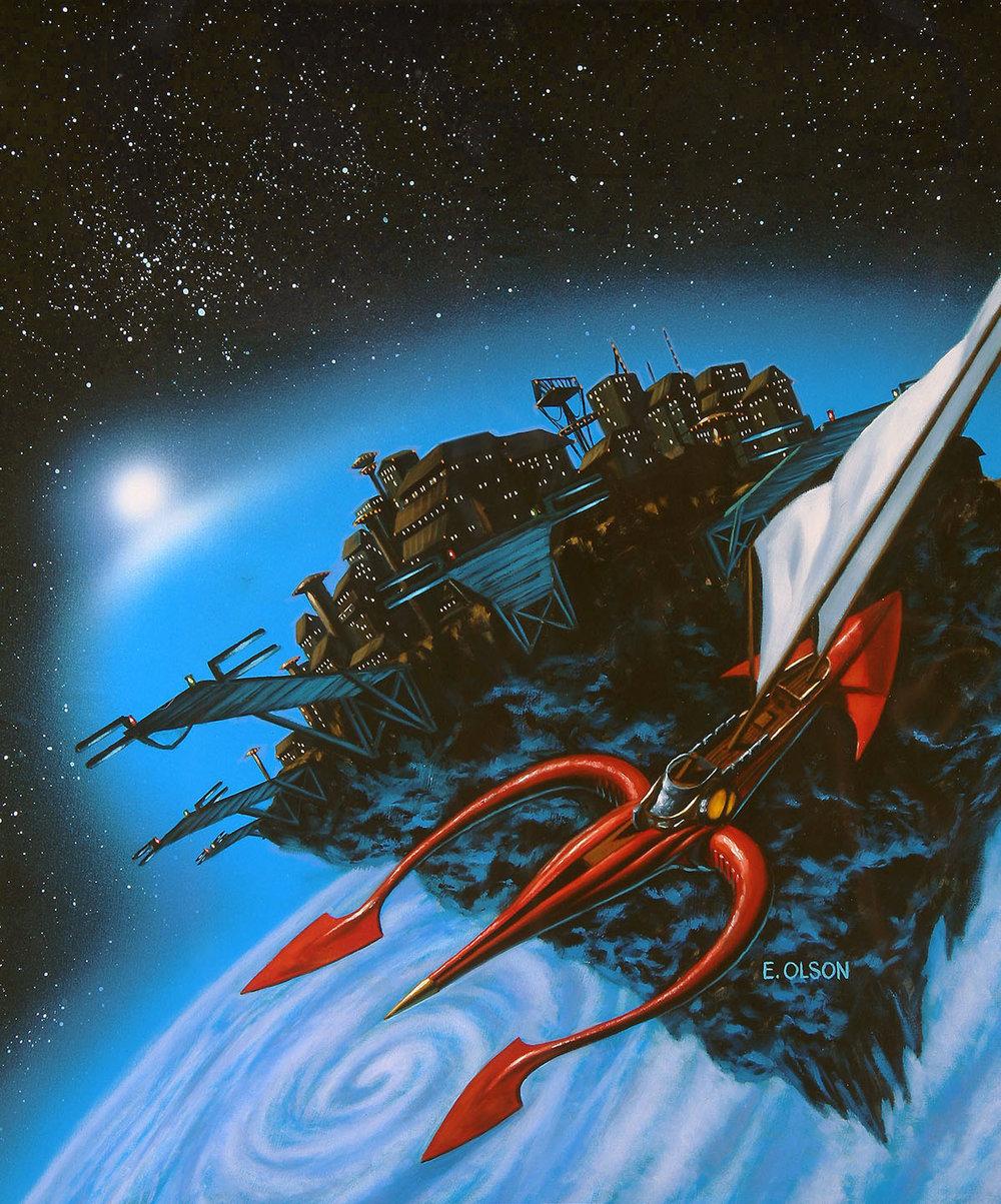 Scorpion Ship Leaving Asteroid