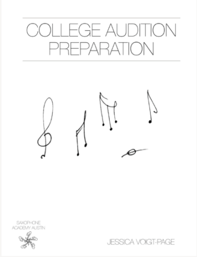 COLLEGE AUDITION PREP GUIDE - Designed to assist high school students looking to study music in college successfully navigate the application and audition process, this book provides spaces for organization of thought, comparisons of up to five colleges, helpful tips and checklists to guide the student through a logical preparation process. Auditioning for music programs is about much more than just the practical audition day, and this book outlines some of the other areas which a student must think about as they make their important decisions in a way that is applicable to students of all instruments. Help your student to get a head start in the planning of their futures! ALL STUDENTS WHO ENROLL IN COLLEGE PREP PROGRAMS RECEIVE A FrEE COPY OF THIS BOOK!