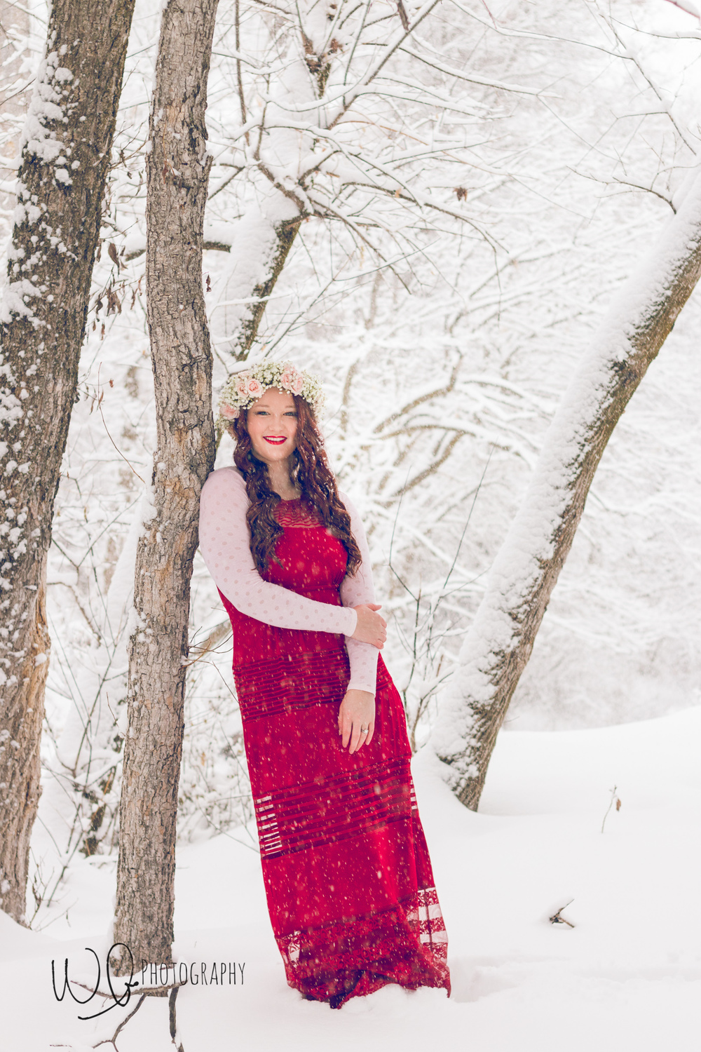 Senior pictures, winter photo shoot