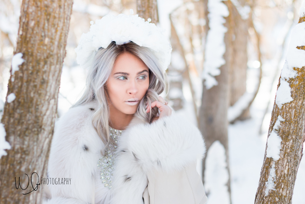 Ice Queen photo shoot, Payson Canyon