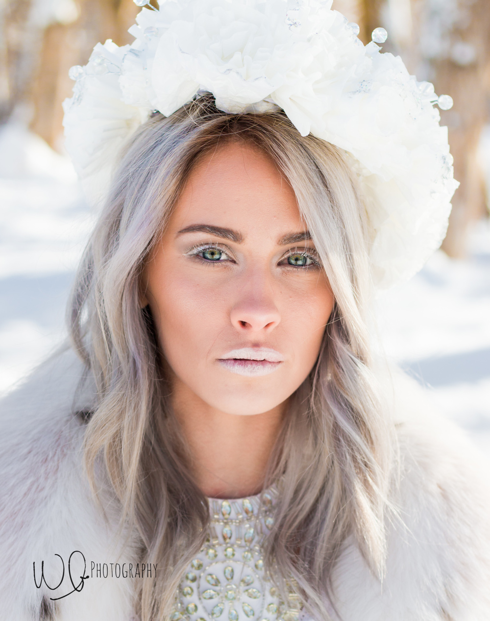 Ice queen photo shoot