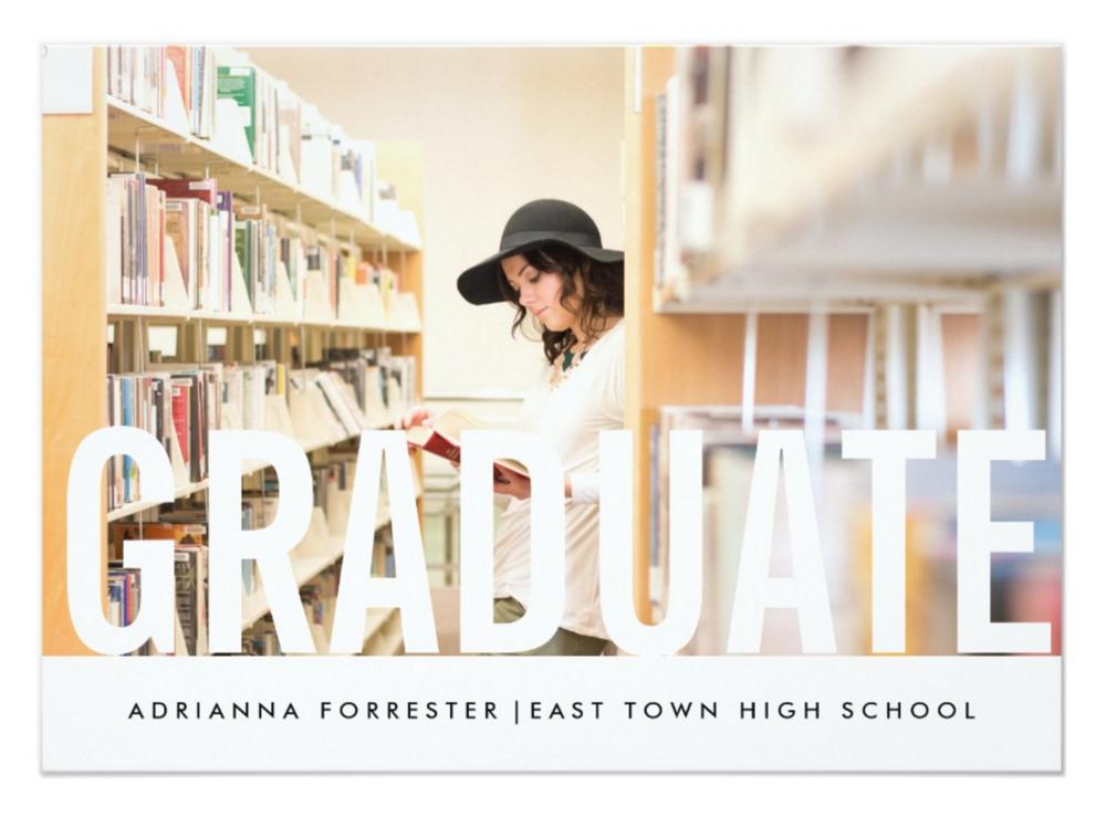 Custom graduation announcements