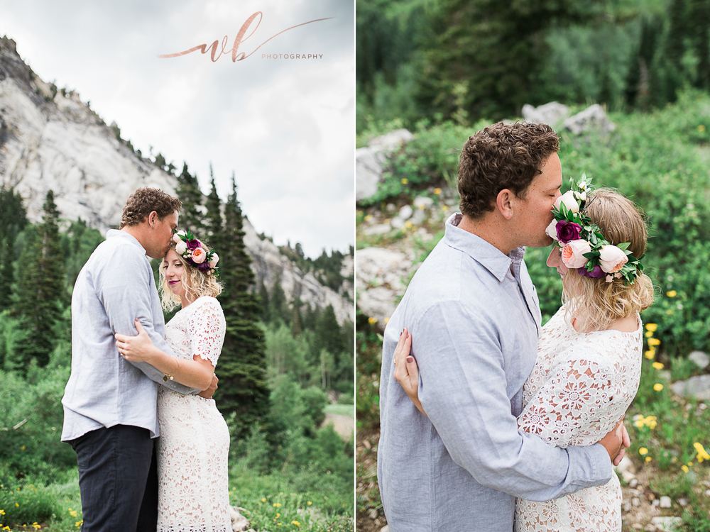 mountain engagements flower crown