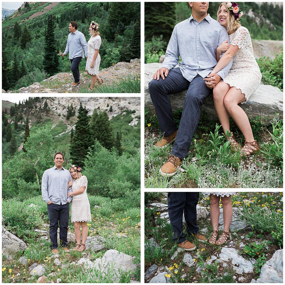 little cottonwood canyon engagement photos