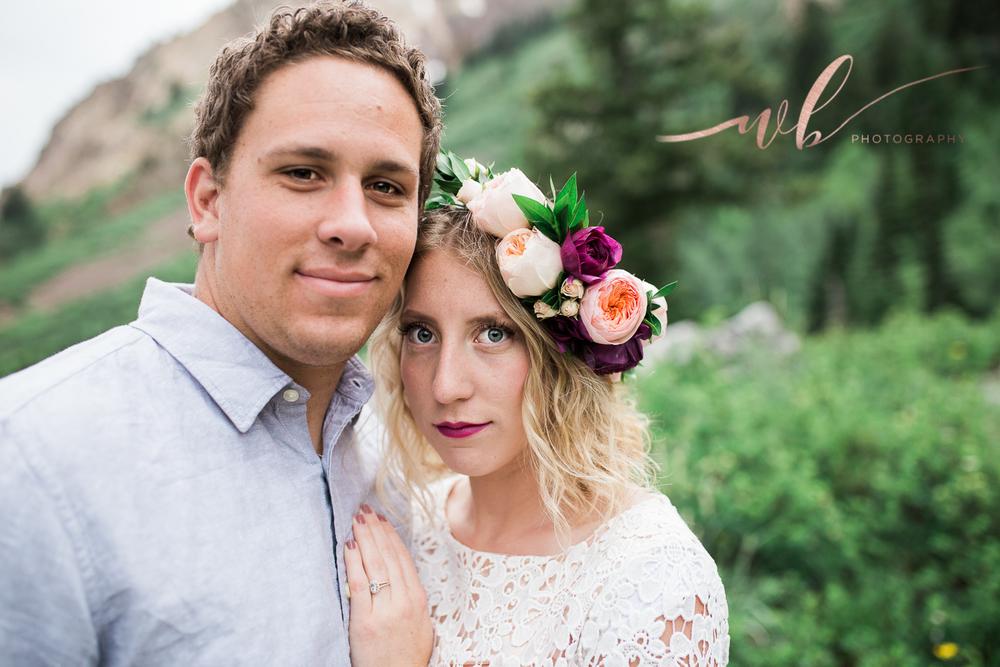 utah mountain engagement photos