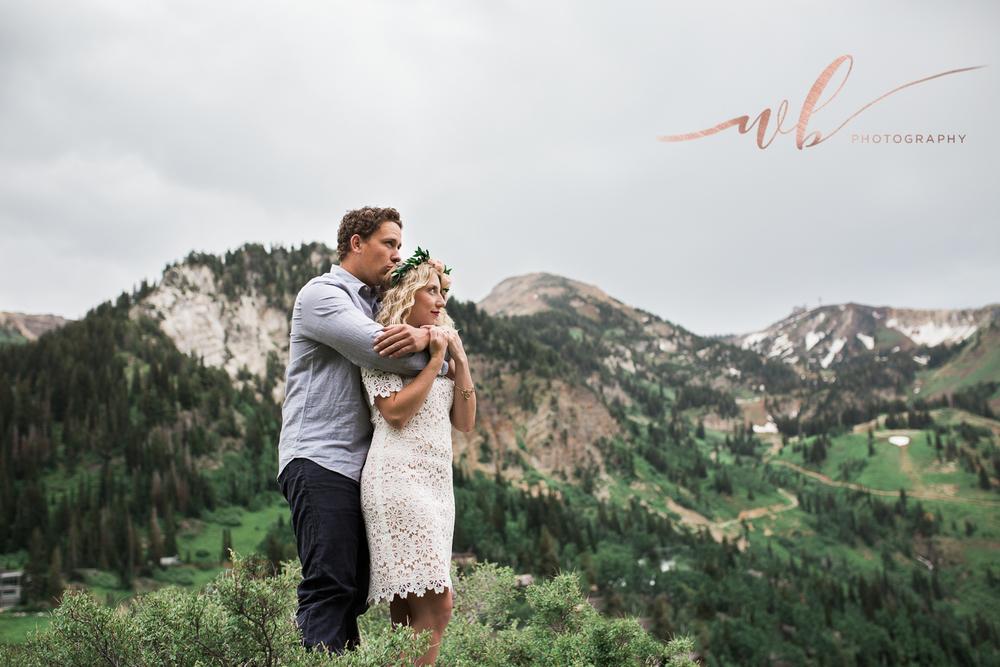 mountain engagement photo shoot