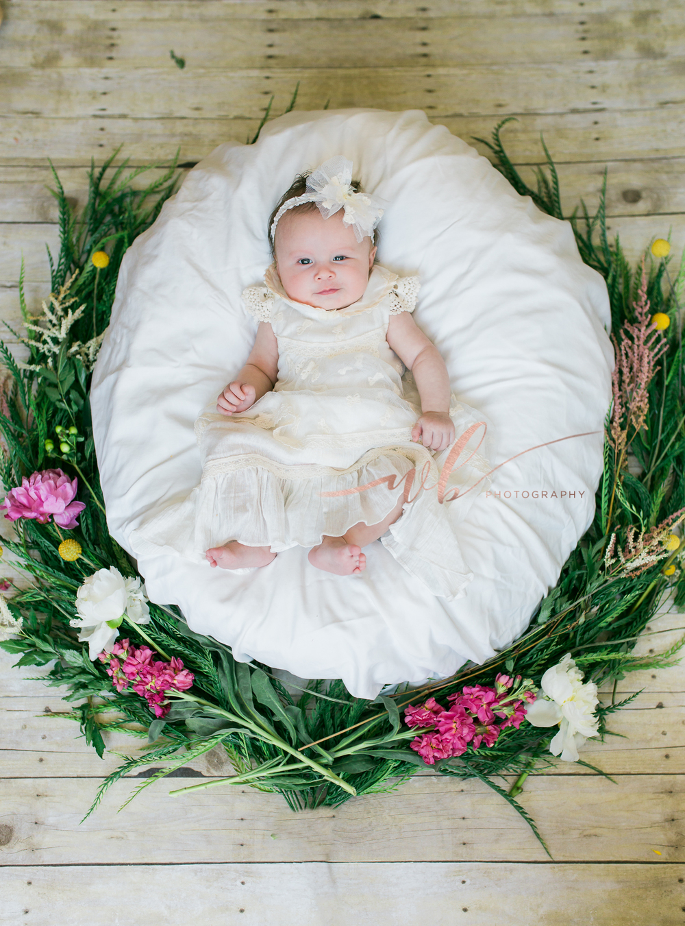 flower wreath baby pictures