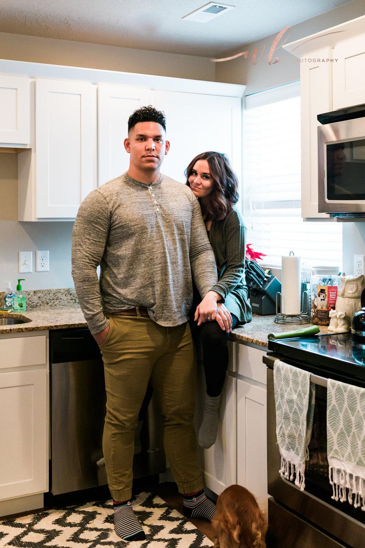 kitchen engagement photos utah