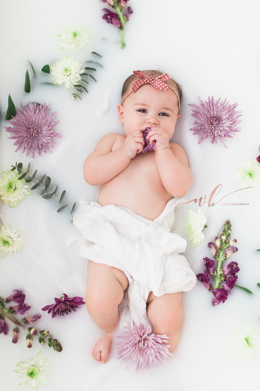 Baby milk bath