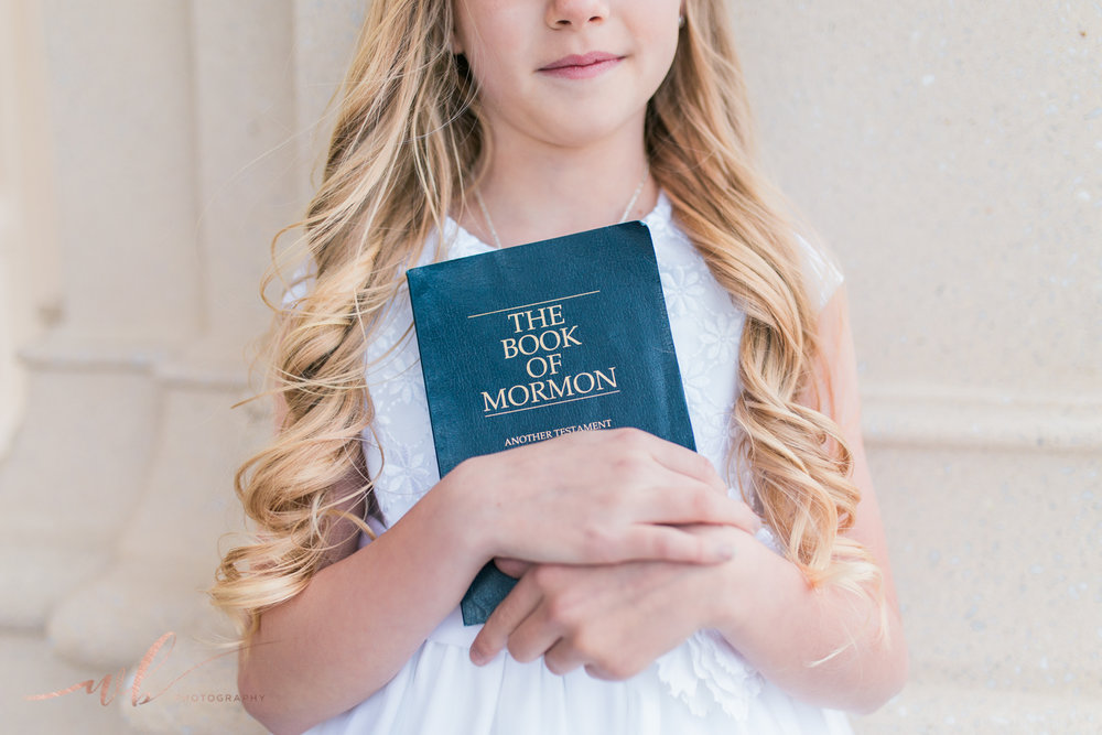 LDS baptism photo ideas