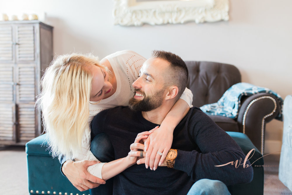 utah couples in home photo shoot