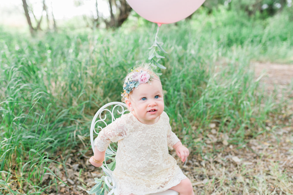First birthday photos in Utah