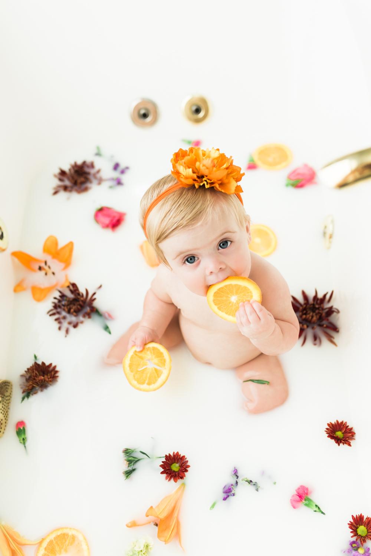 Milk bath photos in Naples Florida